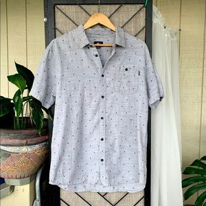 O'Neill Grey Button Up X Large